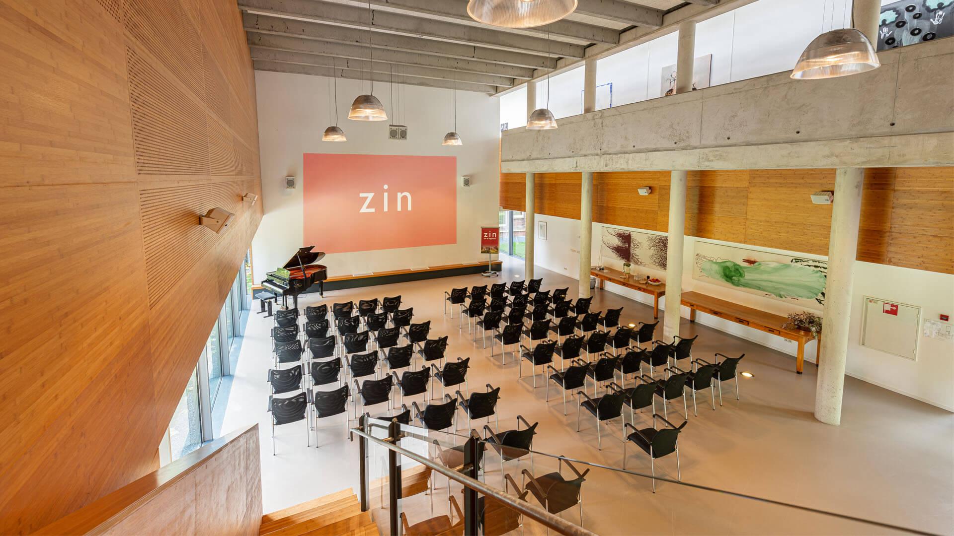 Kloosterhotel ZIN Auditorium scherm theateropstelling theater beamer