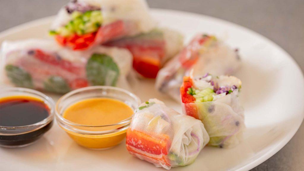 Snack break loempia springroll sojasaus gezond healthy