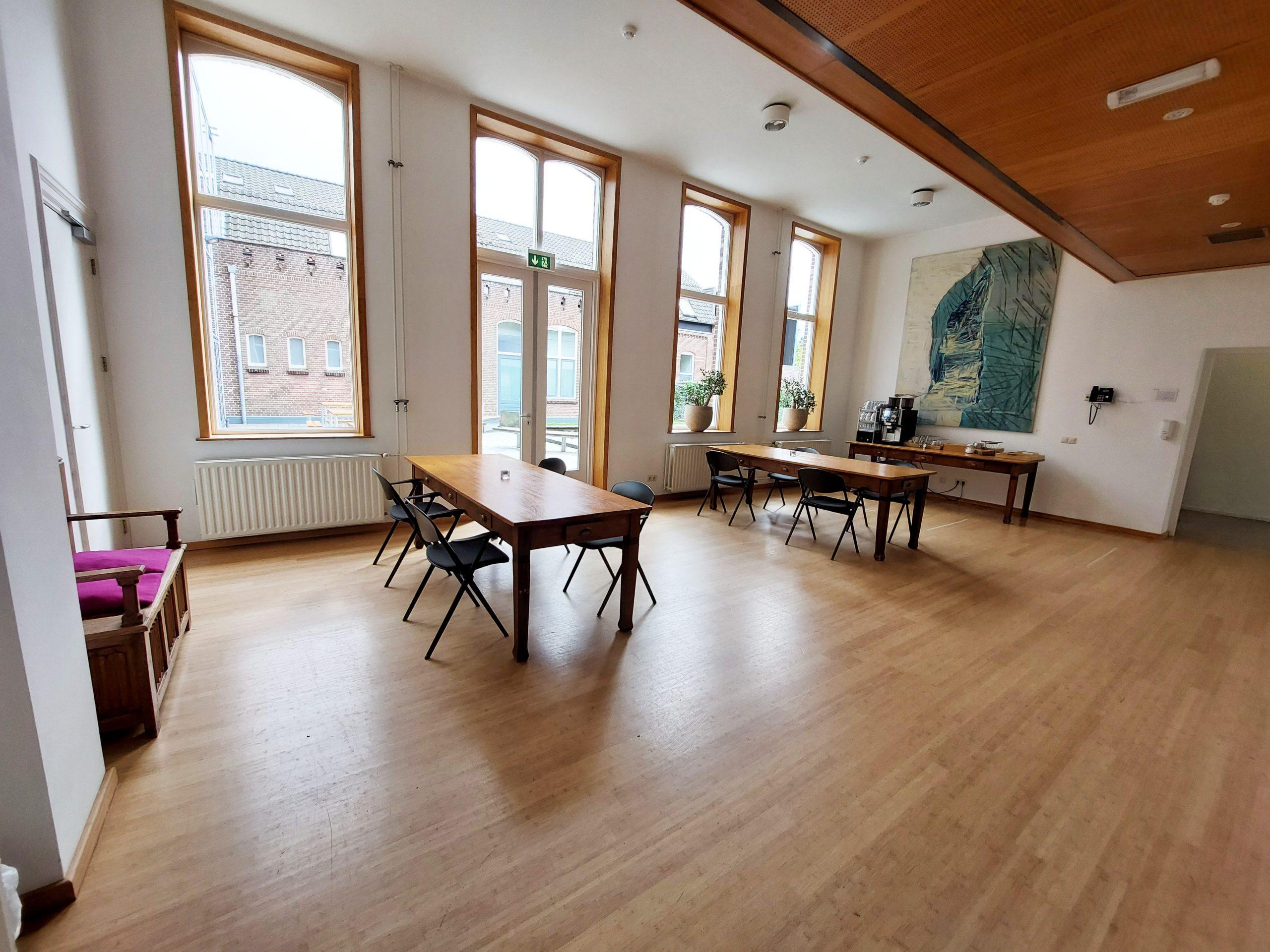 Foyer voorkamer Tuinkamer koffie drinken thee algemene ruimte