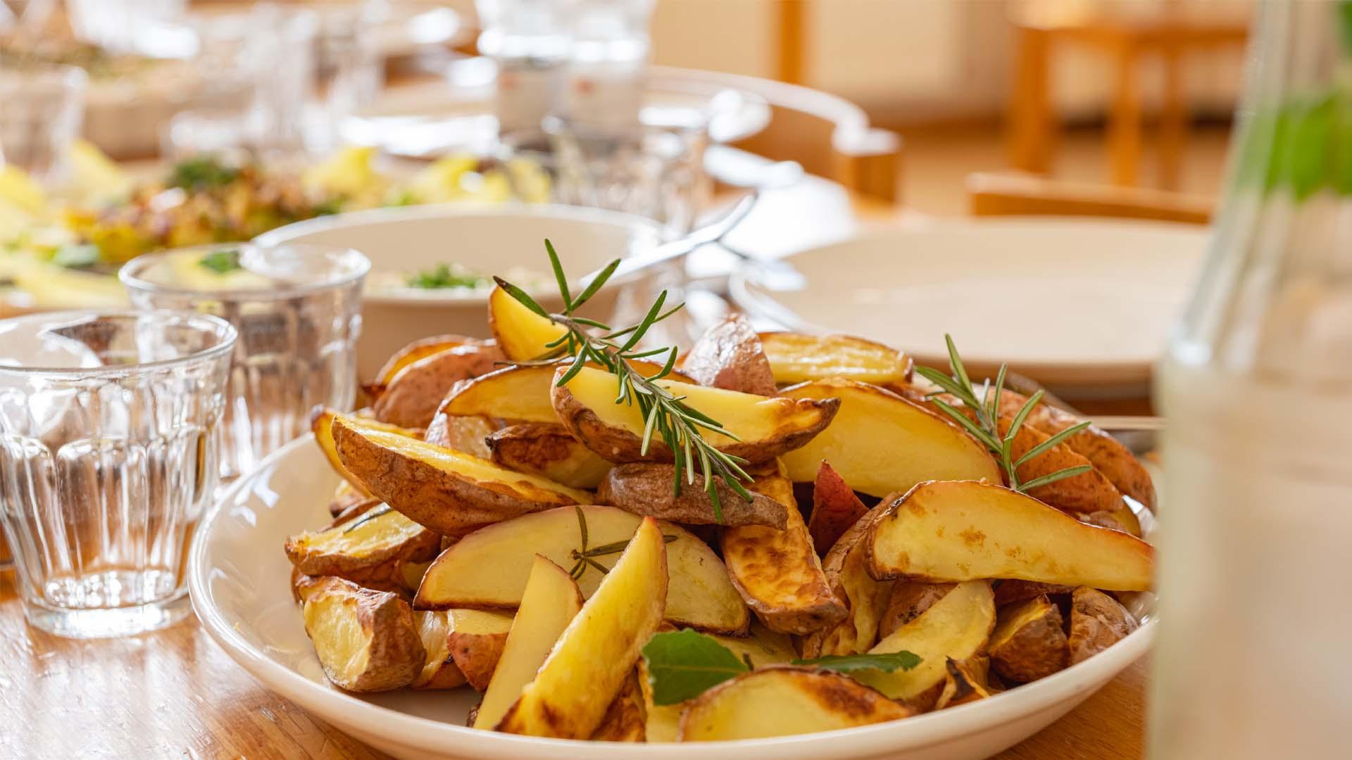 Diner aardappeltjes share dinner gezond biologisch duurzaam