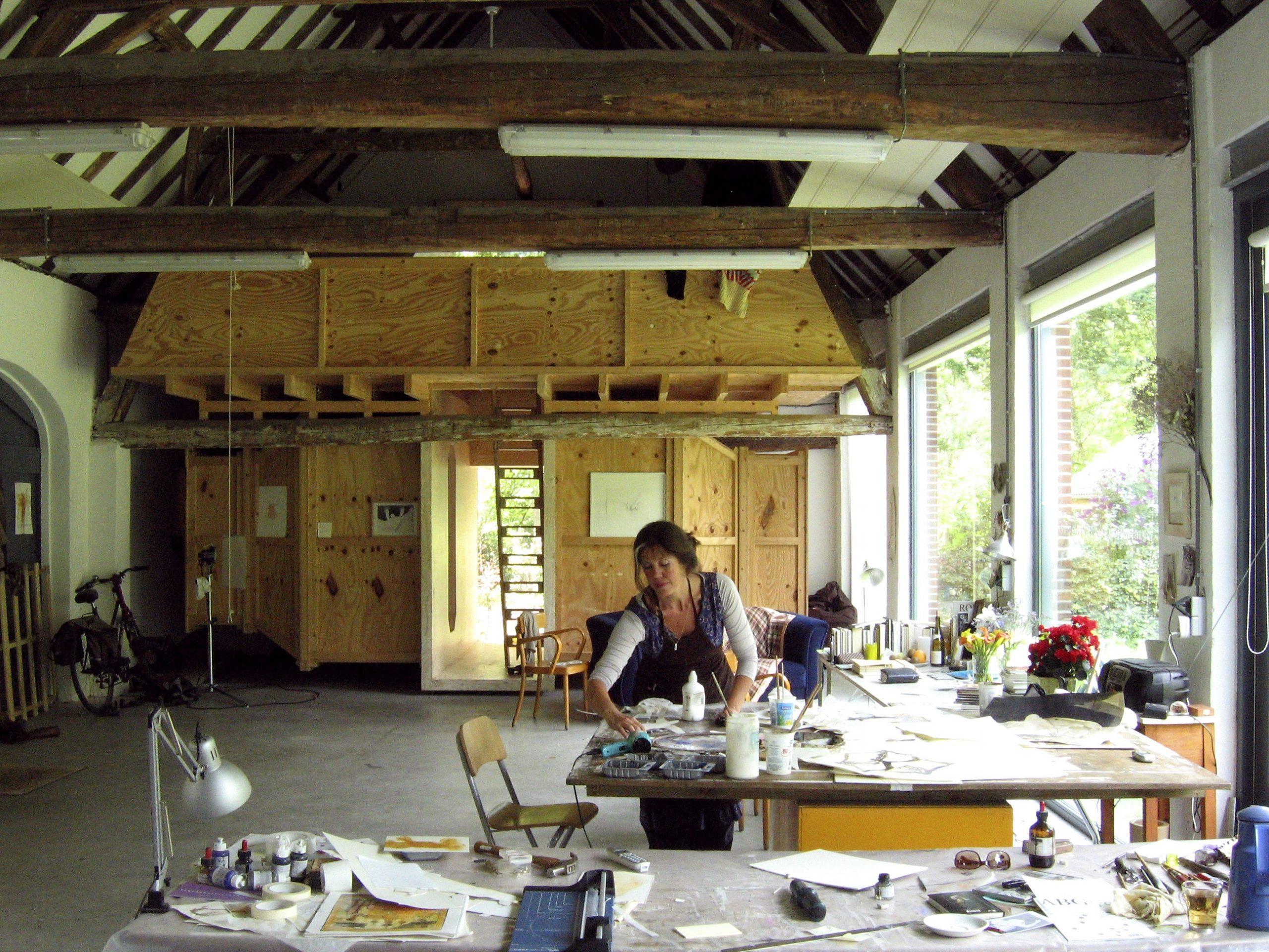 Caren van Herwaarden Atelier kunstenares artist in residence Kloosterhotel ZIN kunstcommissie