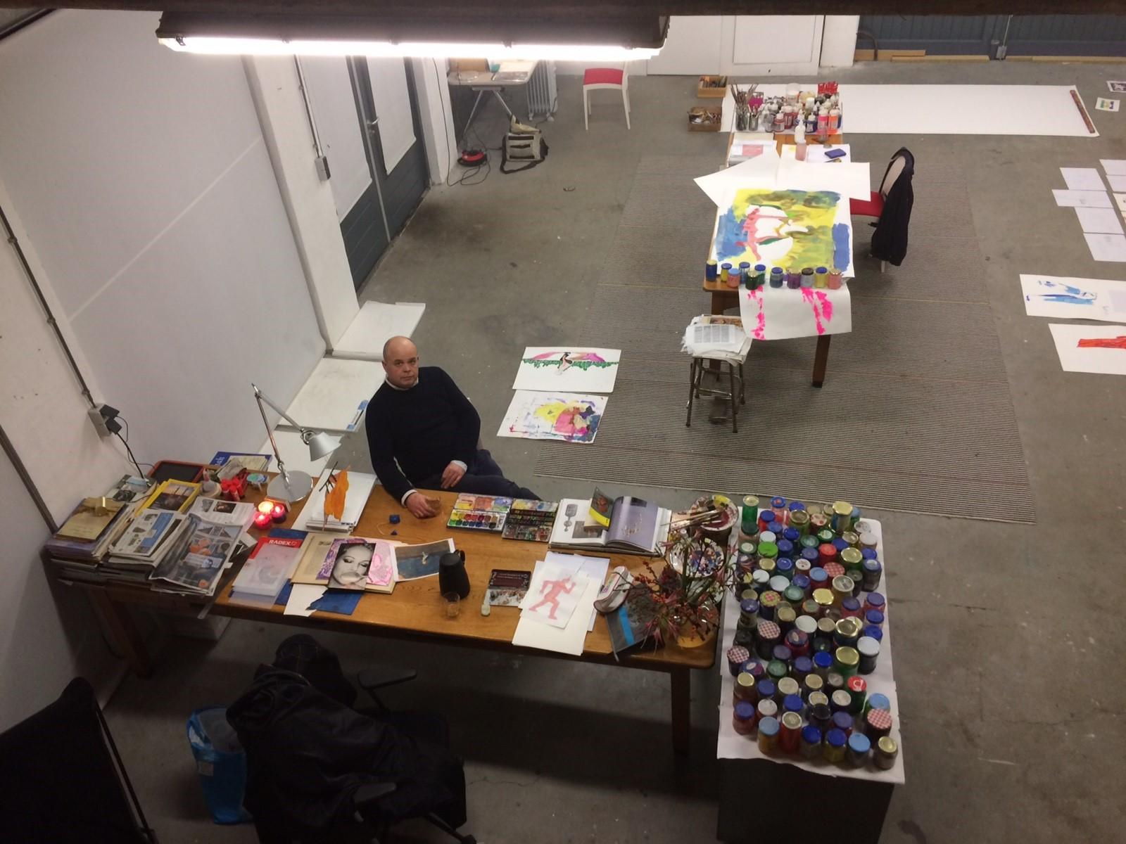 Gijs Assman kunstenaar Atelier artist in residence kunstenaar